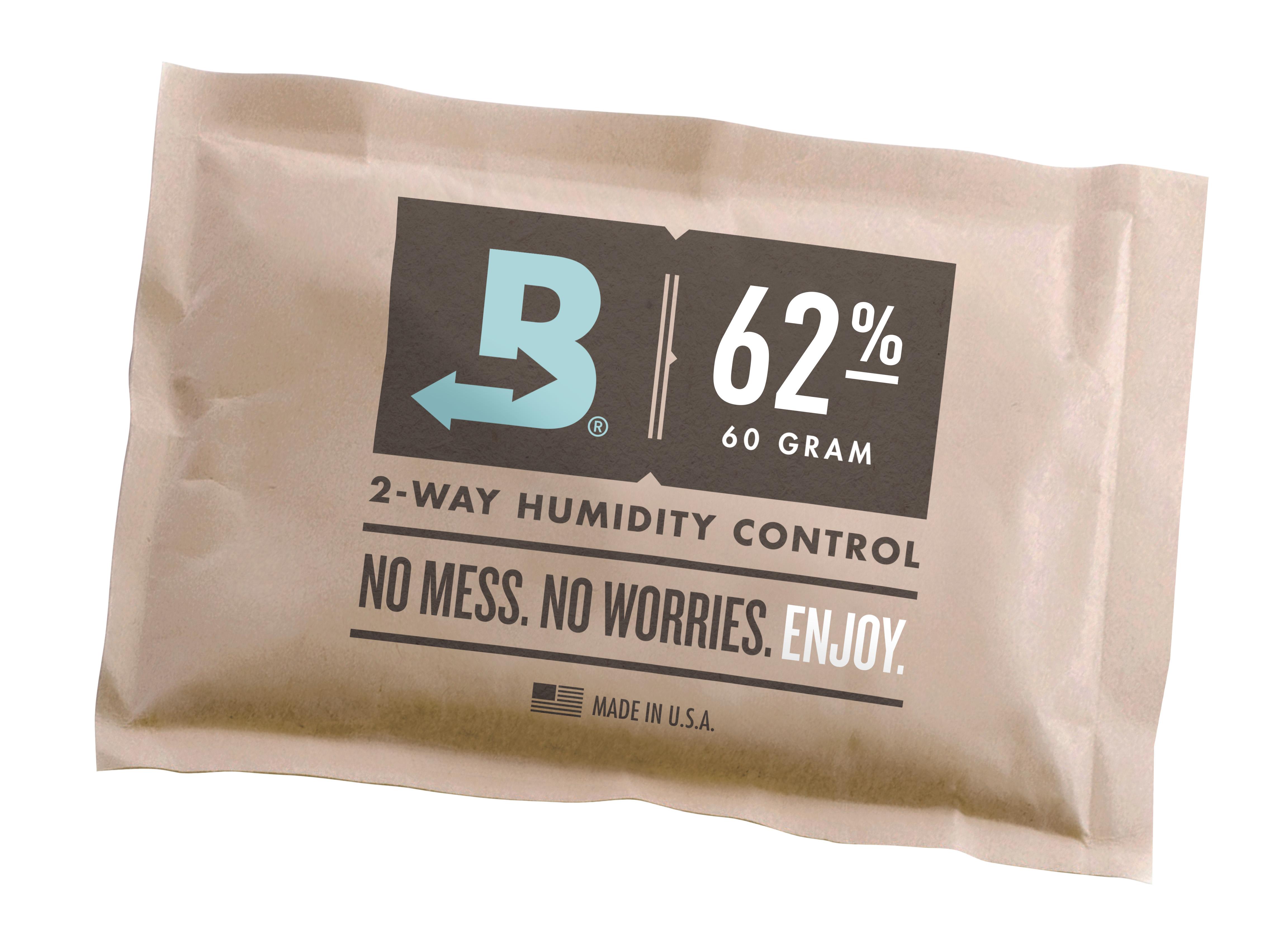 Boveda 62% RH cannabis humidity packs