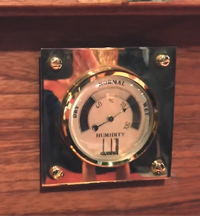 Hygrometer for humidors