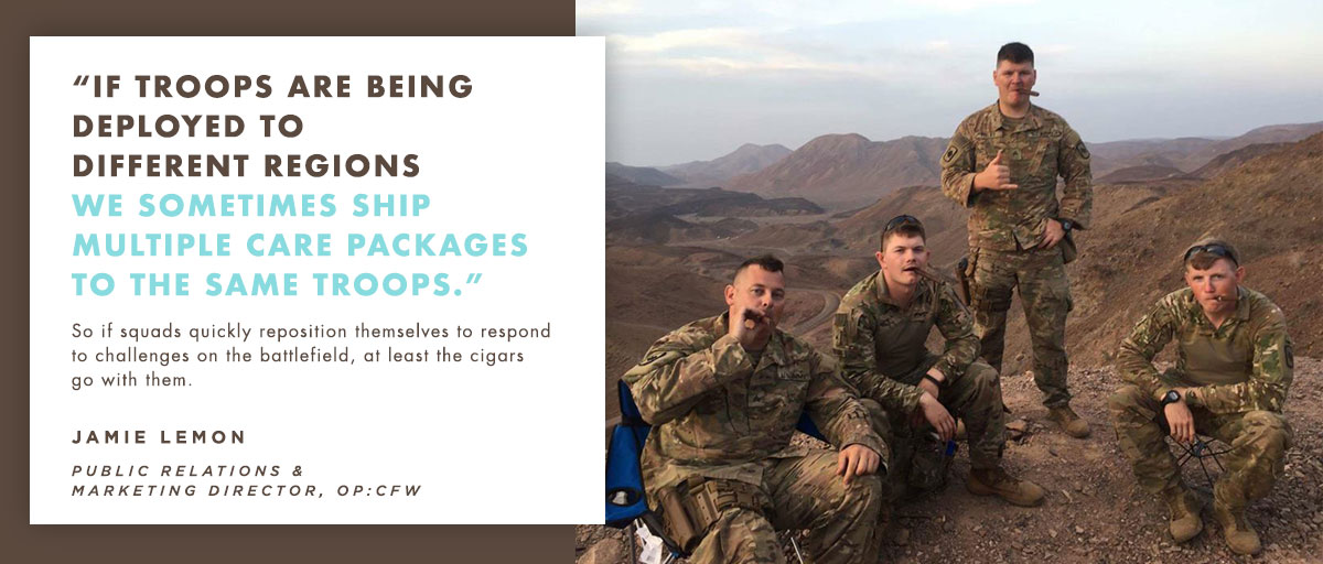 Troops with Cigars