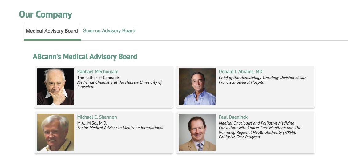 ABcann Medical Advisory Board