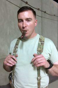 Mitchem with a Cigar