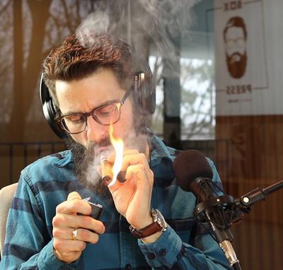 Rob Smoking a Cuban Cigar