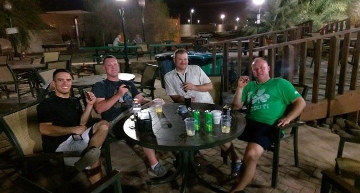 Smoking buddies. (TSgt Nelson is in third from left.)