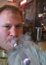 Sergeant Nelson enjoying a smoke