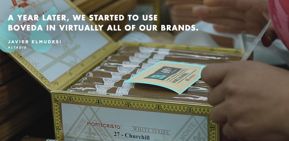 Boveda in with Cigars