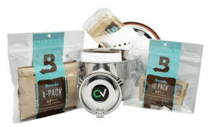 Cannabis kit for growing at home.