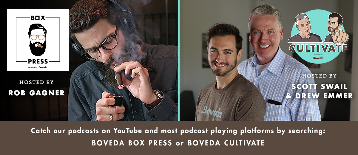 Boveda's cigar and cannabis podcasts.