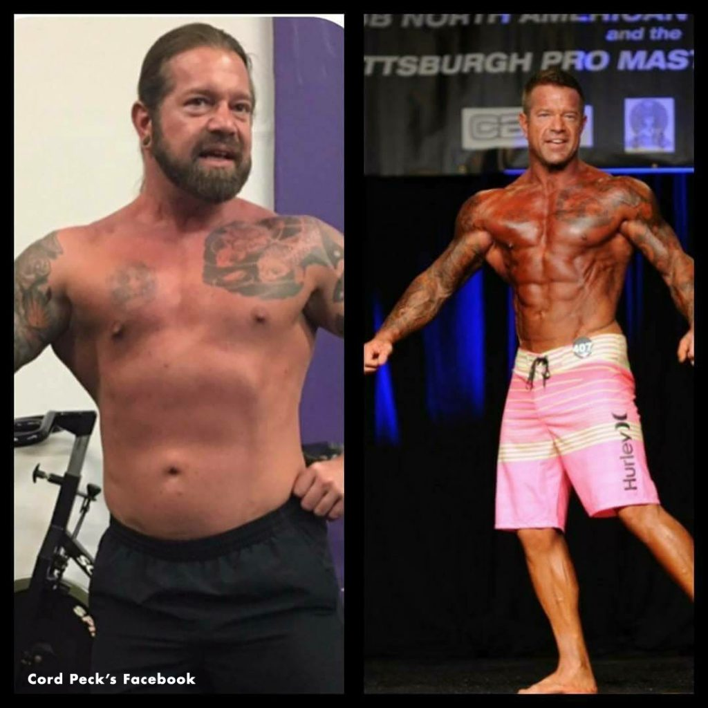 Cord Peck before and after. As an award-winning bodybuilder, Cord ranked fourth in the nation in men's physique division. He is a Boveda-sponsored athlete who uses the 2-way humidity control to preserve the potency of his medicinal cannabis.