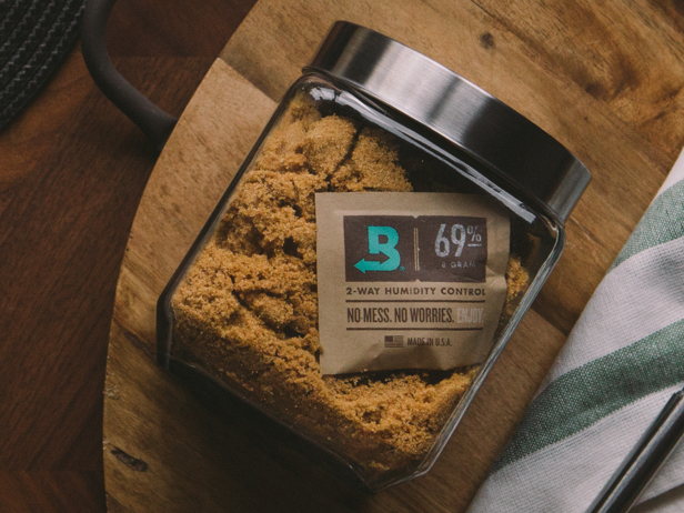 Boveda makes brown sugar soft and ready when needed