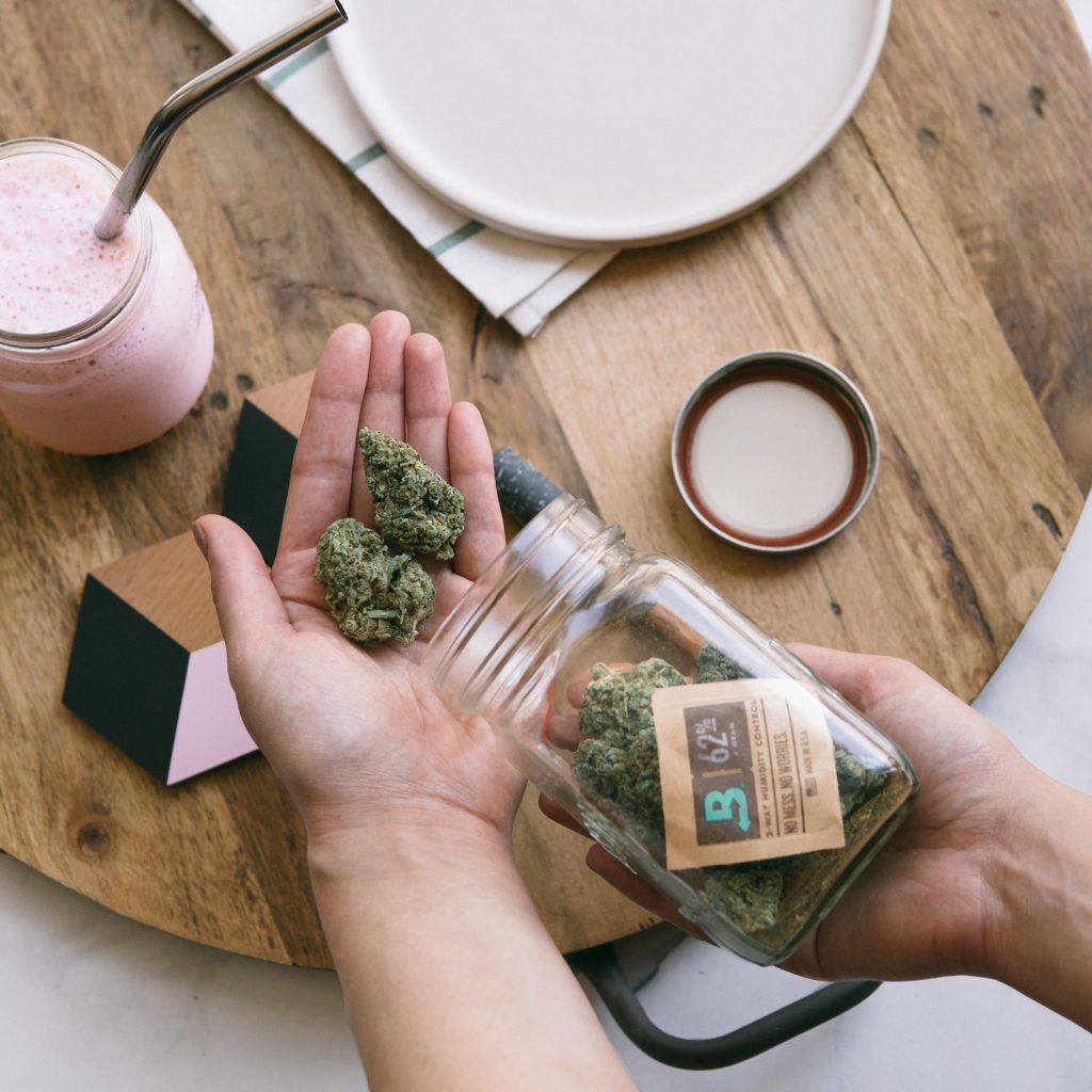 Boveda in jar with cannabis