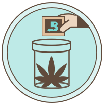 Place Boveda in your favorite container graphic