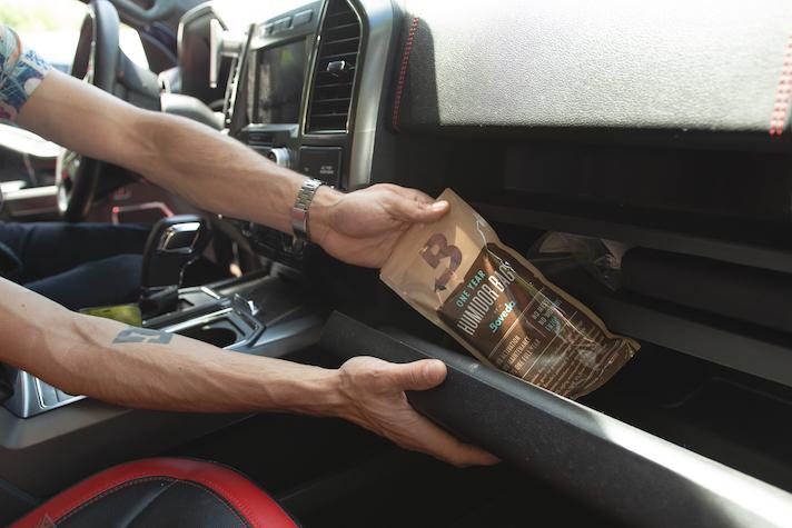 The small Boveda Humidor Bag holds up to 5 cigars.