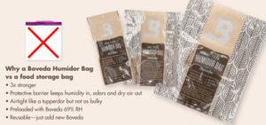 Use a Boveda Humidor Bag instead of a Ziploc bag for cigar storage